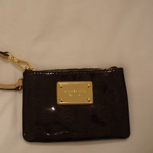 Michael Kors brown/gold wristlet